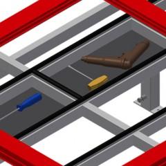 MST 2000 Sliding table Storage tray Elumatec