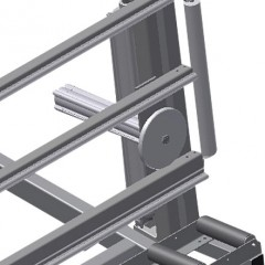 MS 4000 Assembly stand Lead-in rollers Elumatec