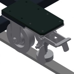 MS 4000 Assembly stand Mobility unit Elumatec