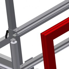 MS 4000 Assembly stand Pull-out profile support Elumatec