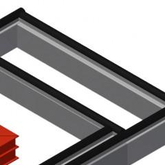 MTA 3000 Assembly table Rubber strips Elumatec