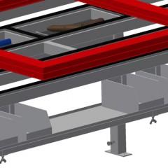 MT 2000 Assembly table Storage area Elumatec