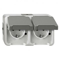 MT 2000 Assembly table Double two-pin grounded socket Elumatec
