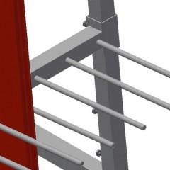 PWS 4000 Profile transport trolley Compartment dividers Elumatec