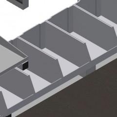 TMT 2000 Door bar assembly table Storage area Elumatec