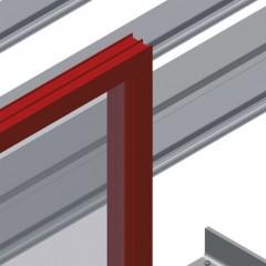 VE 3000 Inspection and glazing unit Back support Elumatec