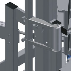 VE 3000 Inspection and glazing unit Tilt adjustment of 0°–8° Elumatec