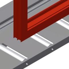 VE 4000 Inspection and glazing unit Supports Elumatec