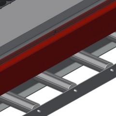 VR 2000 F - Vertical roller conveyor Profile protectors Elumatec