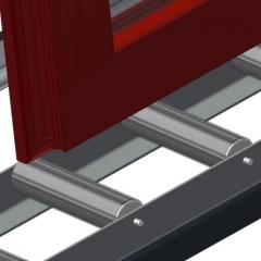 VR 2000 F - Vertical roller conveyor Support rollers Elumatec