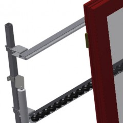VR 2000 - Vertical roller conveyor Back support Elumatec