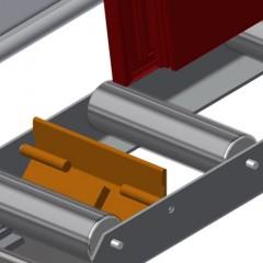 VR 2000 - Vertical roller conveyor End stop Elumatec