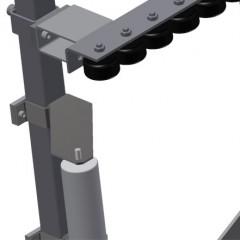 VR 2000 - Vertical roller conveyor Mini-roller conveyor height adjustment Elumatec