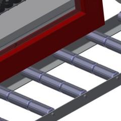 VR 2003 F - Vertical roller conveyor Profile protectors Elumatec