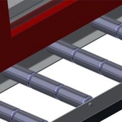 VR 2003 F - Vertical roller conveyor Support rollers Elumatec
