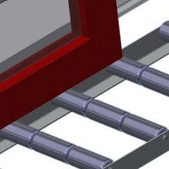 VR 2003 - Vertical roller conveyor Profile protectors Elumatec