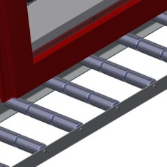 VR 2003 - Vertical roller conveyor Support rollers Elumatec