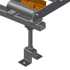 VR 3000 - Vertical roller conveyor Roller conveyor height adjustment Elumatec
