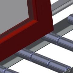 VR 3003 - Vertical roller conveyor Profile protectors Elumatec