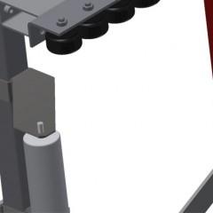 VR 3003 - Vertical roller conveyor Mini-roller conveyor height adjustment Elumatec