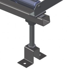 VR 4003 - Vertical roller conveyor Roller conveyor height adjustment Elumatec