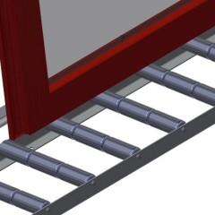 VR 4003 - Vertical roller conveyor Support rollers Elumatec