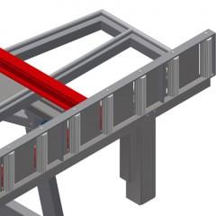 KT 3000 Tilting table Roller support Elumatec