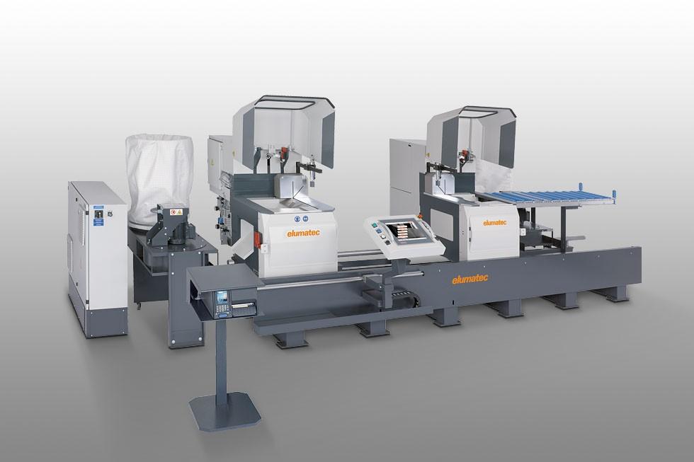 DG 142 - Máquina de corte de duas cabeças angulares Elumatec